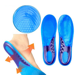arch support shoe insole gel pads Australia - Gel Shoe Insoles Free Size Unisex Orthotic Arch Support Sport Shoe Pad Running Insert Cushion Stretch Breathable Deodorant D35