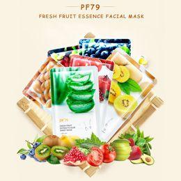 $enCountryForm.capitalKeyWord Australia - PF79 Fruit Face Mask Pure Natural Care Facial Mask Moisturizing Oil Control Whitening Wrapped Face Care Mask 12pcs Sheet Masks