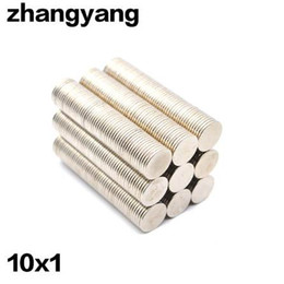 Small Neodymium Magnets Australia - ZHANGYANG 50Pieces Pack 10 mm x 1mm Magnetic Materials Neodymium Magnet Mini Small Round Disc Magnet Home Decorations Fridge