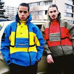 $enCountryForm.capitalKeyWord Australia - T X S Steep Tech Hooded Jacket Men Women Pullover Coats Fashion Outerwear Top Quality Blue Yellow S~xl Hfttjk016