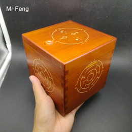 $enCountryForm.capitalKeyWord Australia - Wooden Hard Puzzle Box Difficult 3D Maze Brain Teaser Game Toy Novelty Coin Money Box Gift Kid ( Model Number SH075 )