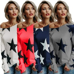 $enCountryForm.capitalKeyWord Australia - Women Star t Shirt Long Sleeve Summer Clothes Autumn Casual Women t Shirts High Quality Plus Size t Shirt Female