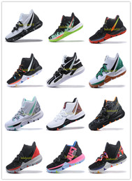 Clear Balls Australia - Irving 2019 Limited 5 Men Basketball Shoes 5s Black Magic For Kyrie Chaussures De Basket Ball Mens Trainers Sneakers Zapatillas 40-46 v06