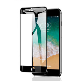 f061e1effff 7D Full Cover Protective Tempered Glass On For iphone 7 6 6S 8 Plus screen  protector For iPhone X 5 5S SE Curved Edge Glass Film