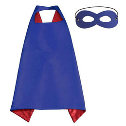 Cosplay Hero Cape Australia - Plain colors 70*70cm 2 layers satincostume Halloween Cosplay Superhero Capes kids capes with mask 20 styles good quality B4