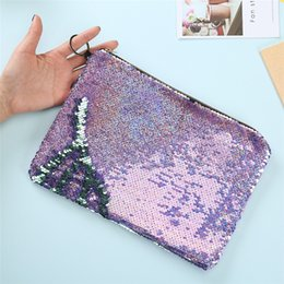 Designers Pen NZ - designer toiletry bag kids purses girls cosmetic bag flip sequin envelope handbags large capacity student pen bag luxury designer wallets