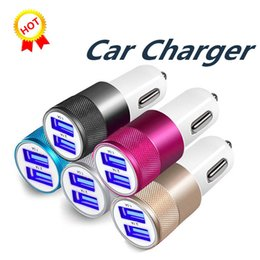 $enCountryForm.capitalKeyWord Australia - Dual USB Car Charger Adapter 3.1A 2 USB Ports Universal Intelligent Charging Auto Vehicle Metal Charger For Smart Phone Tablet