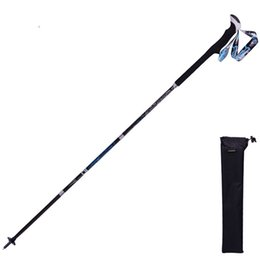 Chinese  Climb Mountains Trekking Pole Portable Foldable Alpenstock Four Carbon Fiber Unisex Lightweight Stick Body Factory Direct selling 105ad C1 manufacturers