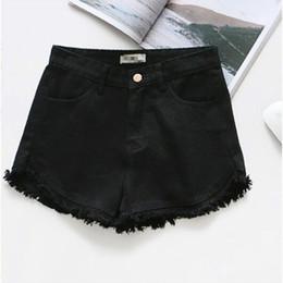 e70ac28b8b3 good quality 2019 Fashion Summer Women Colorful Fringe Denim Shorts Cotton High  Waist Plus Size Short