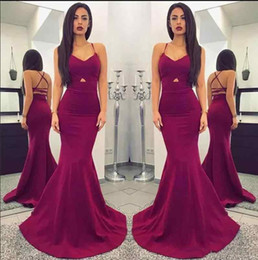 $enCountryForm.capitalKeyWord Australia - Free Fast Shipping Mermaid Evening Dresses Criss Cross Straps Sleeveless Scoop Special Occasion Dresses Custom Made Elegant Prom Dresses