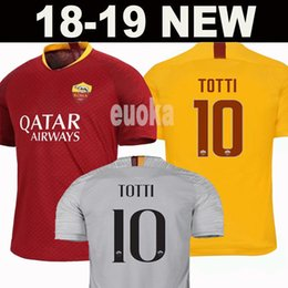Jerseys fútbol roma online-Nuevo 2019 DZEKO PEROTTI PASTORE ZANIOLO  camiseta de fútbol Roma 2018 c13de50c471df