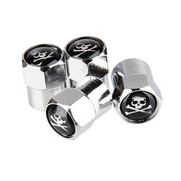 wheels classic cars Canada - New 4Pcs Set Classic SKULL Anti-theft Chrome Car Wheel Tire Valve Stem Cap For Car Motorcycle,Air Leakproof And Protection Your Valve