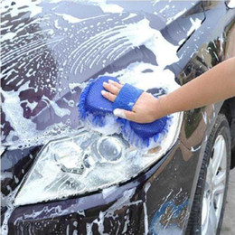 $enCountryForm.capitalKeyWord Australia - Microfibre Car Care Wash Washing Mit Cleaning Pad Glove Polishing Duster C UKGRL  Block gloves for automobile cleaning