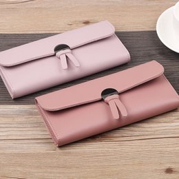 $enCountryForm.capitalKeyWord NZ - Lovely New Style Long Money Clips Brand Korean-Style Tri-Fold Closure Soft Wallets For Girls Wholesale Purses Money Bag Solid
