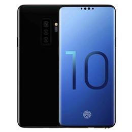 $enCountryForm.capitalKeyWord UK - Goophone S10 Plus 6.5inch MTK6580 Unlocked cell phone Quad Core Android 1G Ram 16G Rom phone fake 4G