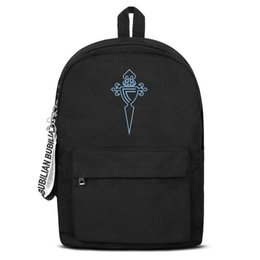 $enCountryForm.capitalKeyWord Australia - RC Celta de Vigo Celestes blue Free Shipping Women Men Canvas School Student Waterproof Travel Backpack Printing Backpack