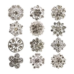 eastern star pins UK - American and European foreign trade alloy set drill brooch electroplated water drill brooch women's handlebar flower accessories pin