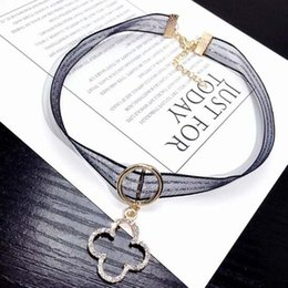 $enCountryForm.capitalKeyWord Australia - Women Girl Fashion Crysral Four Leaf Clover Pendant Chokers Necklace Sexy Clavicle Chain Party Jewelry Gift Support Mix
