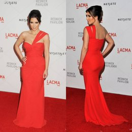 kim kardashian zipper dress Australia - Kim Kardashian One Shoulder Mermaid Prom Dresses Full Length Pleated Red Carpet Celebrity Dresses Cheap Long Formal Evening Gowns 2019 New