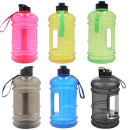 $enCountryForm.capitalKeyWord Australia - 2200ml large capacity water cups 5 colors Water kettles with small cap dumbbell fitness portable bottles for camper and gyms