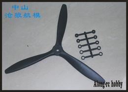 livraison gratuite 4 PCS 3 hélices (8 * 6 ou 9 * 6 ou 10 * 6 ou 11 * 7) pour avion avion RC modèle pièce de rechange en Solde