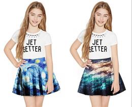 $enCountryForm.capitalKeyWord Australia - New Lovely Van Gogh Girls Tutu Skirt Half-Length Ball Gown Children Ballet Skirts For Party Dance Princess Girl Tulle Clothes