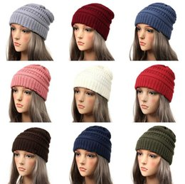 838ea545cfca5 Women Beanie Cap Hat Skully Trendy Warm Chunky Soft Stretch Cable Knit  Slouchy Beanie Winter Hats Ski Cap 25 color KKA6309