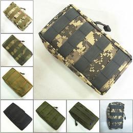 Venta al por mayor de Táctica de Molle bolsa de la Utilidad de EDC bolsa para el chaleco de la correa de mochila caza al aire libre de cinturón Paquete militar bolsa de accesorios