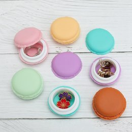 $enCountryForm.capitalKeyWord NZ - 1 Pcs Portable Candy Color Mini Cute Macarons Jewelry Ring Necklace Carrying Case Organizer Storage Box Freeshipping