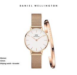 $enCountryForm.capitalKeyWord Canada - Simple Fine Daniel womens Wrist watches 32mm 36mm Women Watches Luxury Quartz Watch Female Clock All steel Cuff bracelet Accessories