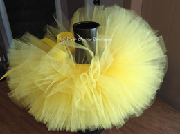$enCountryForm.capitalKeyWord Australia - Lovely Girls Yellow Tutu Skirts Baby Fluffy Ballet Dance Tutus Tulle Pettiskirts with Ribbon Bow Kids Birthday Party Skirt Cloth