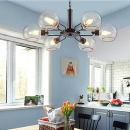 $enCountryForm.capitalKeyWord Australia - LOFT Industrial Chandeliers Globe Glass Lights Modern Minimalistic Design Chandelier Hanging in Living Room Restaurant Lamps