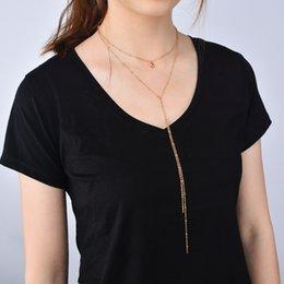 $enCountryForm.capitalKeyWord Australia - Fashion Jewelry Fashion Metal Choker Necklace Boho Multilayer Chain Small Bell Pendant Necklace Charm Wedding Jewelry for Women