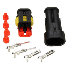 wholesale motorcycle connectors Australia - Waterproof PA66 2 Pin Way Wire Connector Terminals For Motorcycle Electrical Car Truck