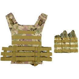 Wholesale tactical vests military for sale - Group buy Tactical Vest Men Army Combat Plate Carrier Protective Vest With Magazine Pouch Military Body Armor Hunting Accessories