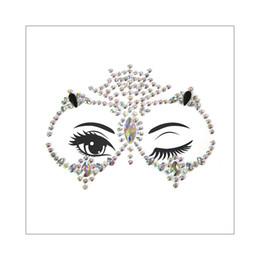 Crystal Gems Australia - 3D Owl Design Female Face Jewelry Gems Sticker Crystal Rhinestone Bling Festival Body Glitter Temporary Tattoo Body Art Makeup 2019 New Gift