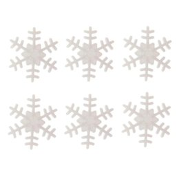 white snowflake tree decor Australia - 100pcs Plastic Button Snowflake Scrapbooking Pendant Christmas Decor