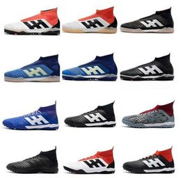 ronaldo shoes free shipping NZ - Free Shipping 2019 New Messi Mens Predator 18.1 TF IC Soccer Shoes Chaussures Ronaldo World Cup Football Boots Discount Neymar Soccer Cleats