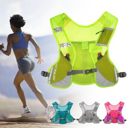 Women Gym Gear Australia - AONIJIE Reflective Running Vest Give Sport Water Bottle for Running Cycling Clothes for Women Men Safety Gear Gym Bag