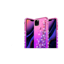 pro plates NZ - Shockproof Quicksand Soft TPU Case For Iphone New 11 2019 Samsung Note 10 Pro Plus Heart Gradient Chromed Luxury Bling Liquid Plating Cover