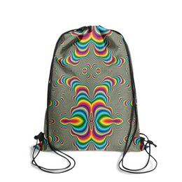 $enCountryForm.capitalKeyWord UK - Drawstring Sports Backpack Psychedelic abstract style Swirl ribbon Fashion Durable Yoga Pull String Backpack