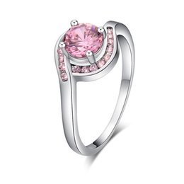 $enCountryForm.capitalKeyWord UK - Exquisite Women Oval Rings Jewelry Bride Engagement Wedding Ring Gold Rings for Women Romantic Wedding Pink Crystal Gifts Jewelr