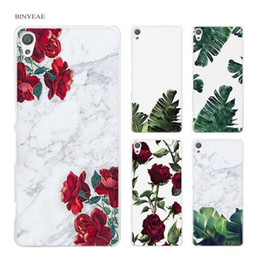 $enCountryForm.capitalKeyWord Australia - Case Cover Coqe For Sony Xperia Xa Xa1 X M4 Aqua M5 E4 E5 Z5 Z3 Z2 Z1 Coque Phone Cases Shell White Marble And Flowers Floral