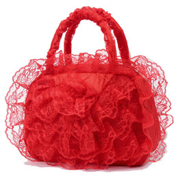$enCountryForm.capitalKeyWord Australia - Ladies Red Lace Handbags Bridal Evening Bags Organizers Cosmetic Pouch Wedding Party Purse Day Clutches For Women's Accessories