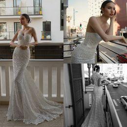 Plus Gowns Jackets Australia - 2020 Julie Vino Lace Mermaid Wedding Dresses With Jacket Sweetheart Sleeveless Boho Wedding Dress Sweep Train Plus Size Beach Bridal Gowns