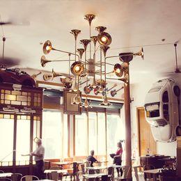 $enCountryForm.capitalKeyWord Australia - JESS 24 Head Modern Chandelier Lamp Toolery speaker Shape Suspension Lamp chrome gold black body Living Room Light Dining Light EMS