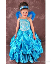 $enCountryForm.capitalKeyWord Australia - Angel Girls Pageant Dresses 2019 Gorgeous Ruffled Skirt Crystal Beads Ball Gown Ritzee Girls Pageant Gowns Flower Girl Dresses 119388