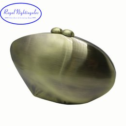 $enCountryForm.capitalKeyWord Australia - Royal Nightinglaes Metal Hard Case Shell Clutch And Evening Bags Gold silver bronze gunmetal For Womens Party Prom Y19061301