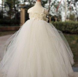 Birthday Tutu Sale Australia - Hot Sales Flower Girl Dress Ivory Tutu Dress Baby Dresses Toddler Birthday Dress Wedding Dresses YYXKZ36
