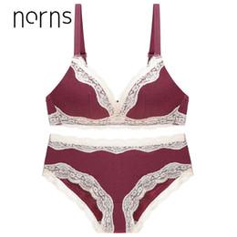 8e71ef4cb Norns tamanho grande das mulheres roupa interior definir sutiã transparente  push up vermelho sutiã cueca rendas bordado íntima sutiãs sexy lingerie set